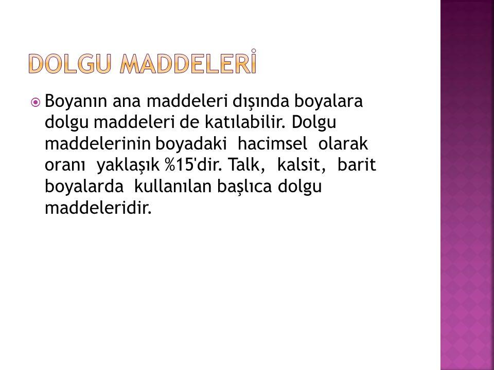 DOLGU MADDELERİ