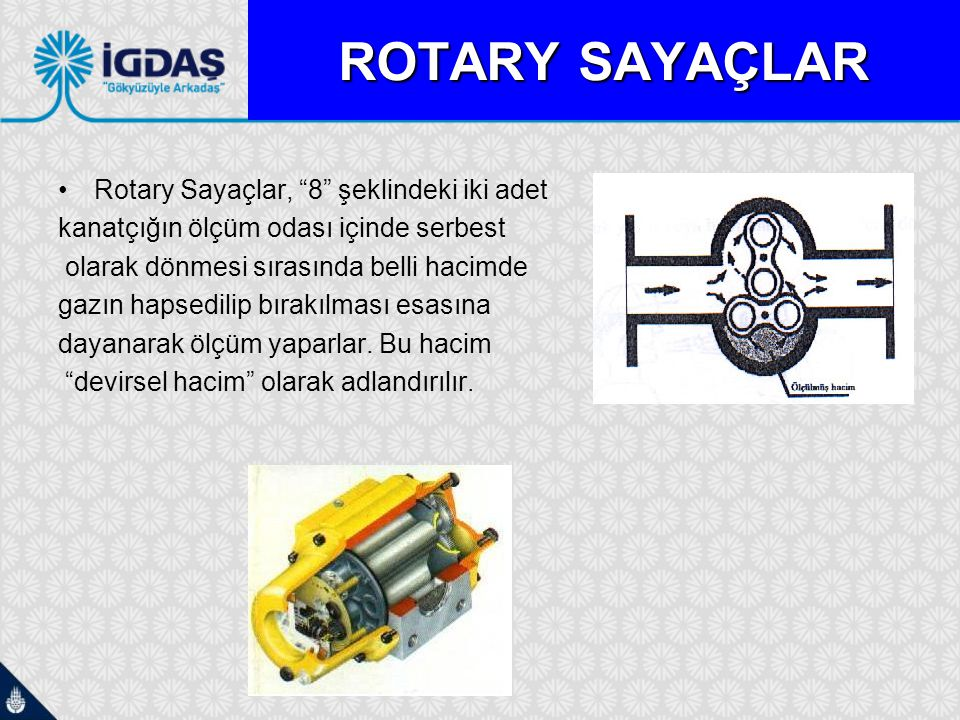 ROTARY SAYAÇLAR Rotary Sayaçlar, 8 şeklindeki iki adet
