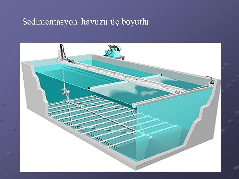 Sedimentasyon havuzu üç boyutlu