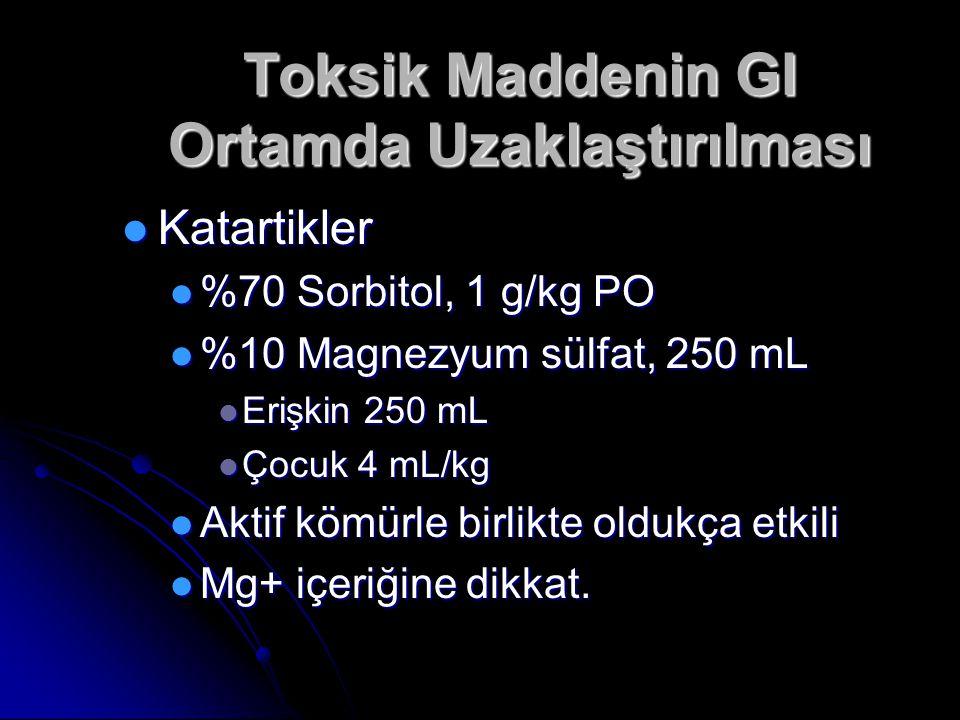 Toksik Maddenin GI Ortamda Uzaklaştırılması