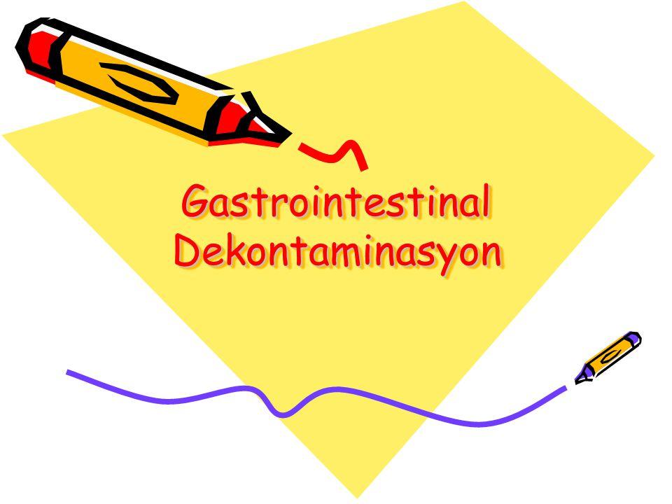 Gastrointestinal Dekontaminasyon