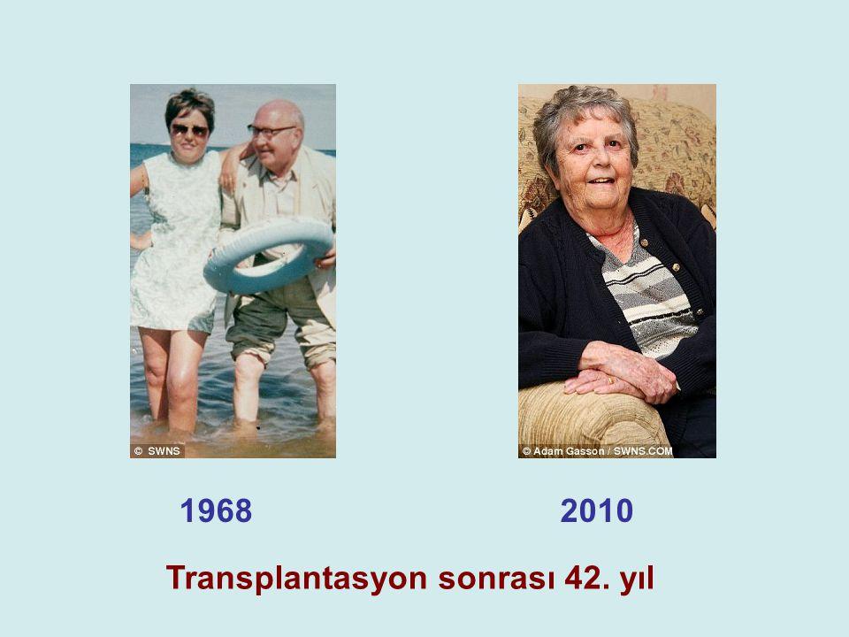 1968 2010 Transplantasyon sonrası 42. yıl