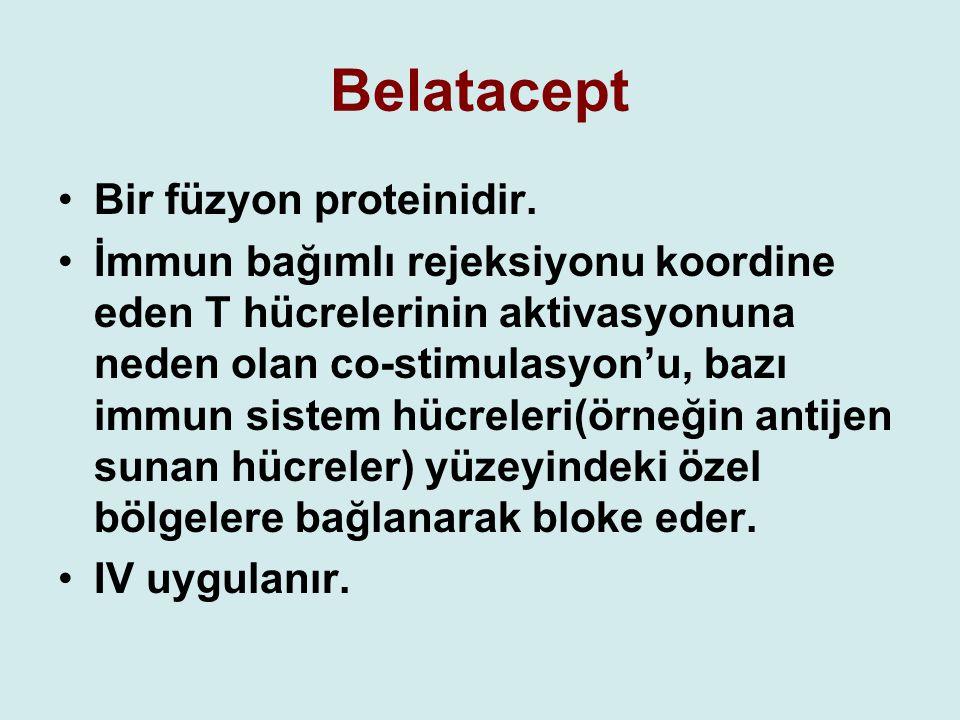 Belatacept Bir füzyon proteinidir.