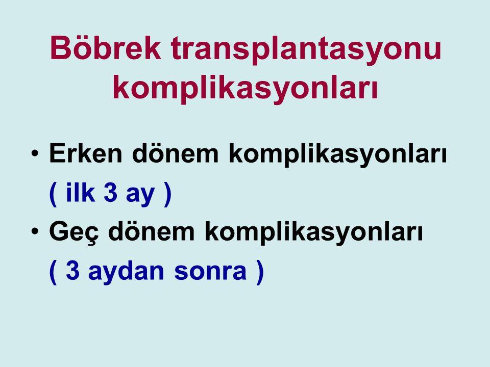Böbrek transplantasyonu komplikasyonları
