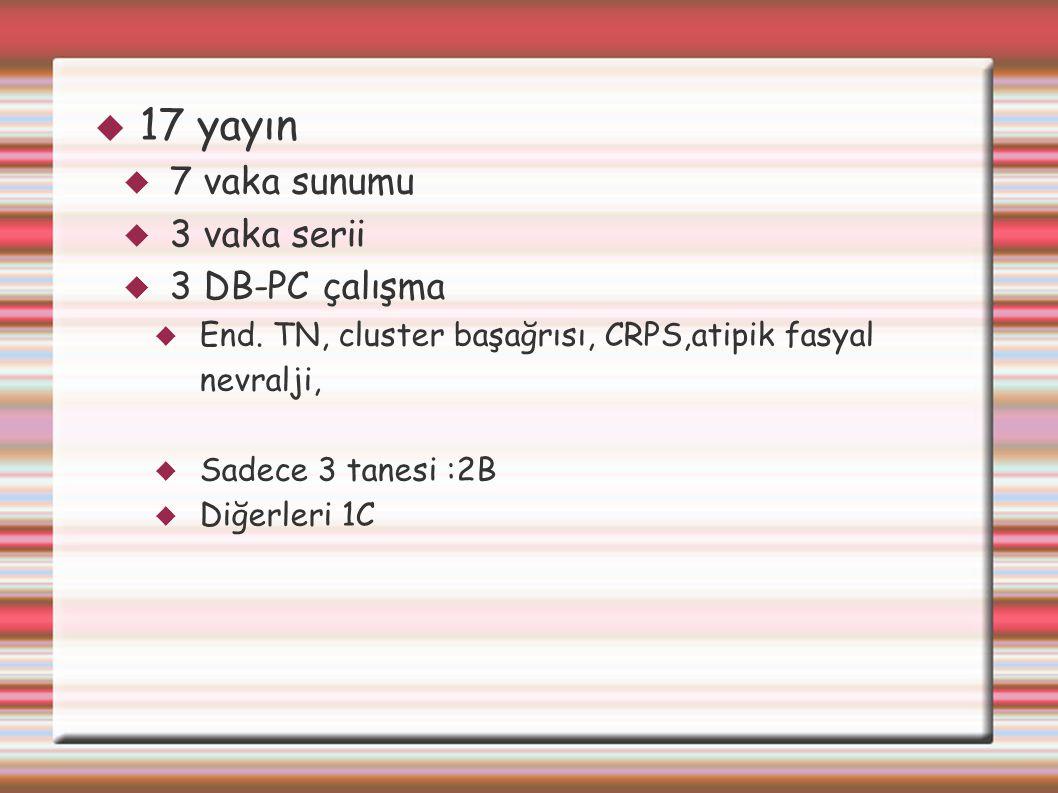17 yayın 7 vaka sunumu 3 vaka serii 3 DB-PC çalışma