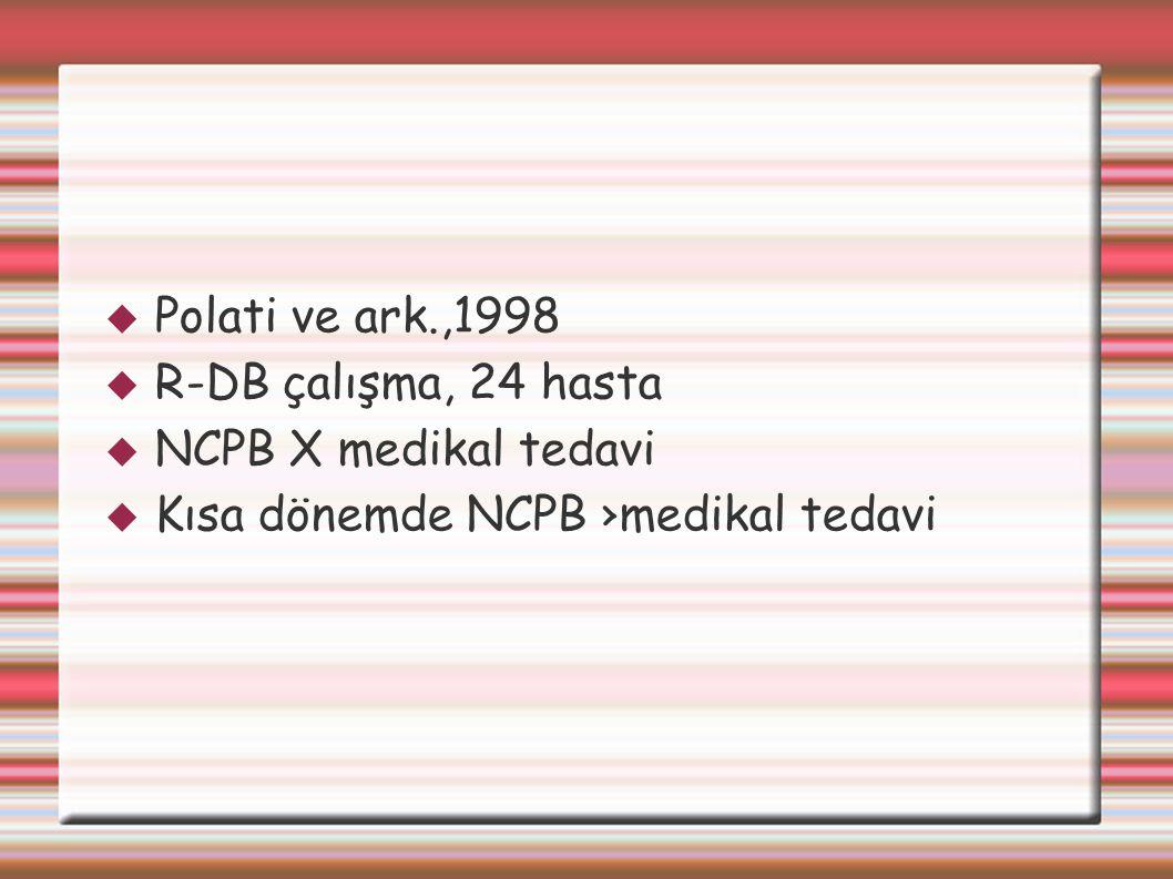 Kısa dönemde NCPB ›medikal tedavi