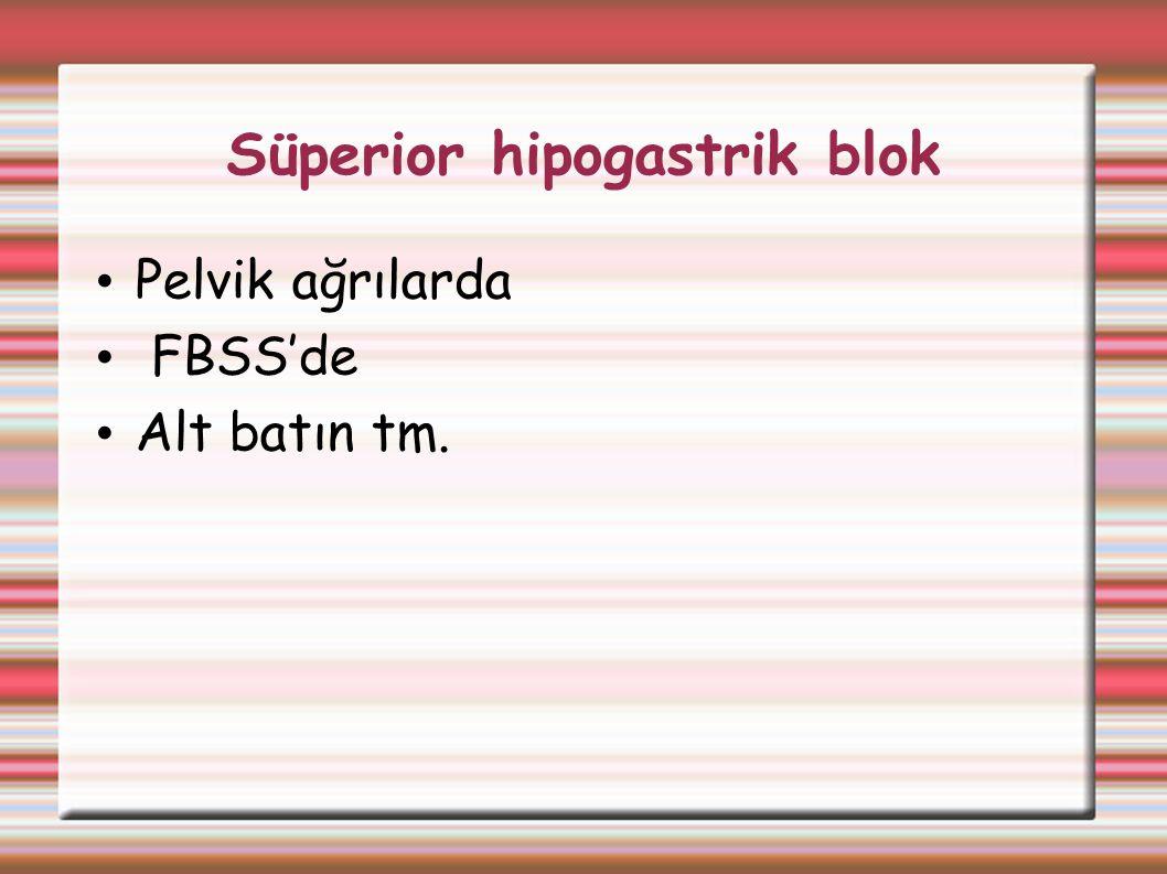 Süperior hipogastrik blok