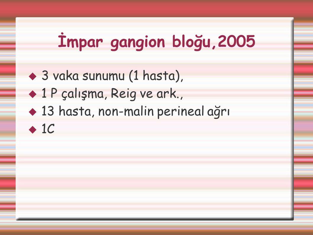 İmpar gangion bloğu,2005 3 vaka sunumu (1 hasta),