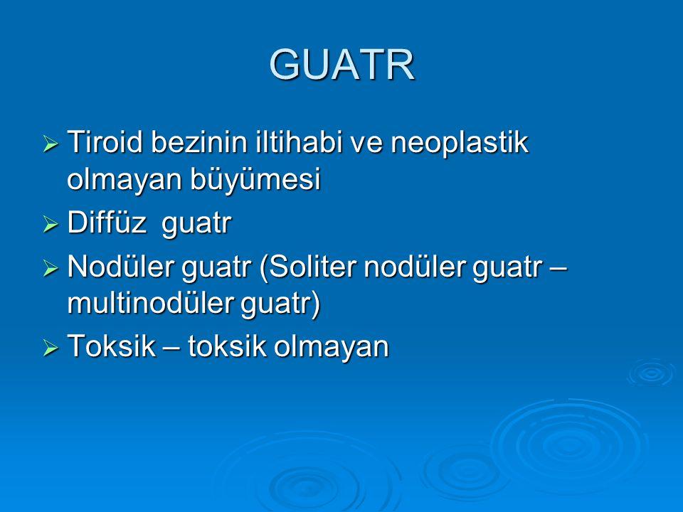 GUATR Tiroid bezinin iltihabi ve neoplastik olmayan büyümesi