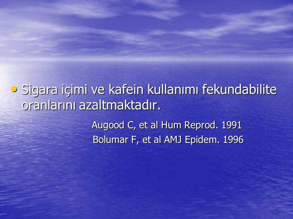 Augood C, et al Hum Reprod. 1991