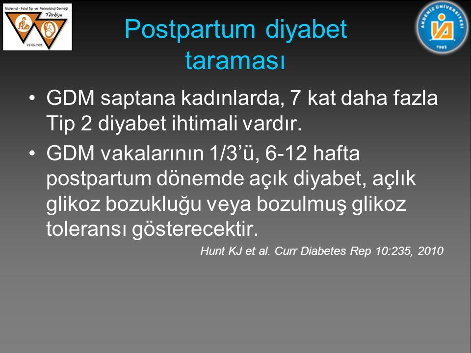 Postpartum diyabet taraması