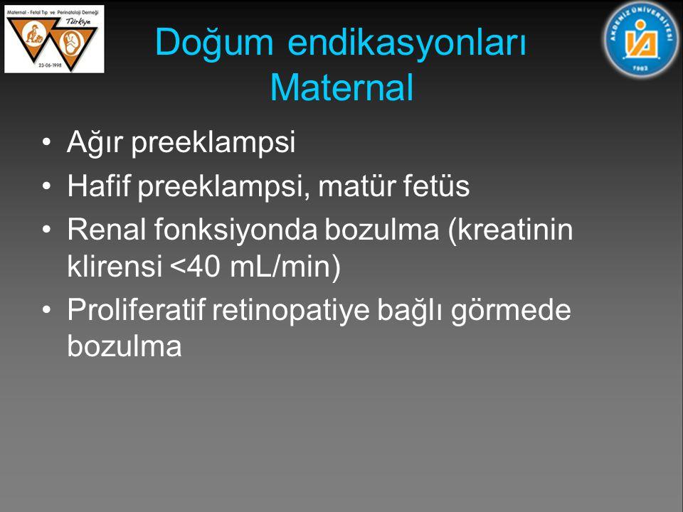 Doğum endikasyonları Maternal