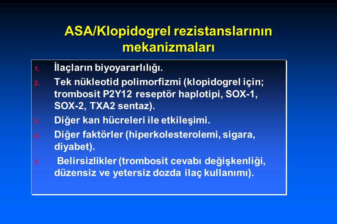 ASA/Klopidogrel rezistanslarının mekanizmaları