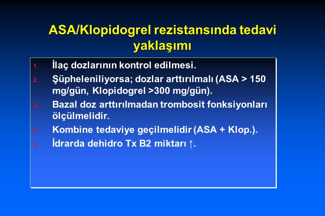 ASA/Klopidogrel rezistansında tedavi yaklaşımı
