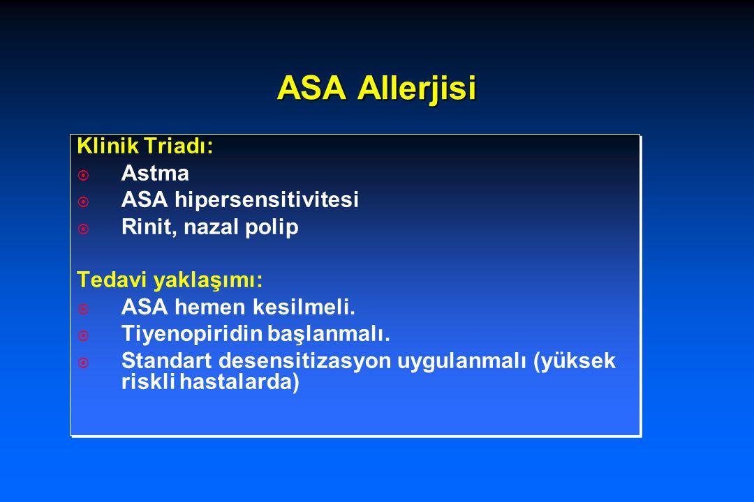 ASA Allerjisi Klinik Triadı: Astma ASA hipersensitivitesi