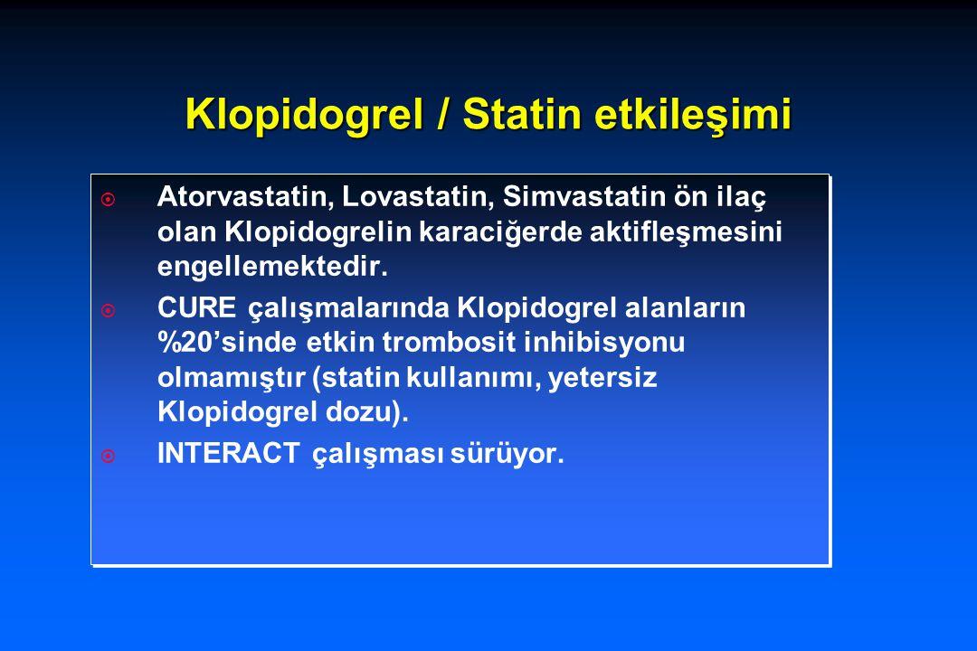 Klopidogrel / Statin etkileşimi