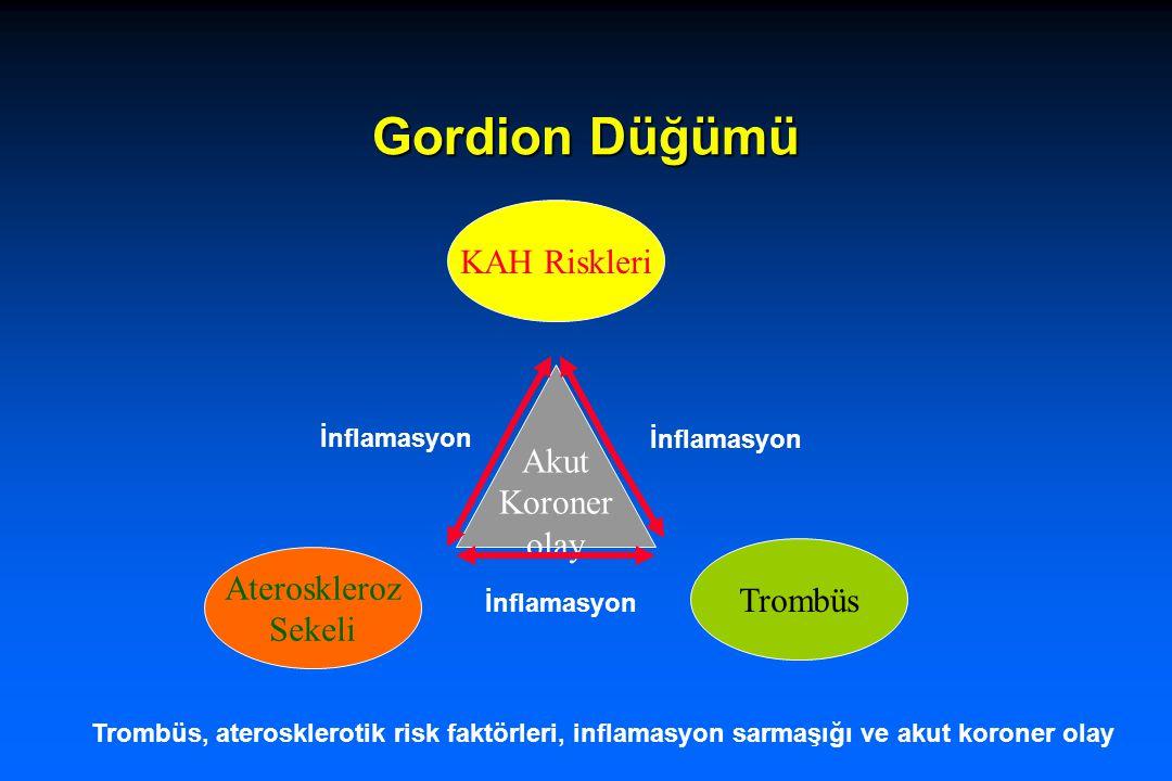 Gordion Düğümü KAH Riskleri Akut Koroner olay Ateroskleroz Trombüs