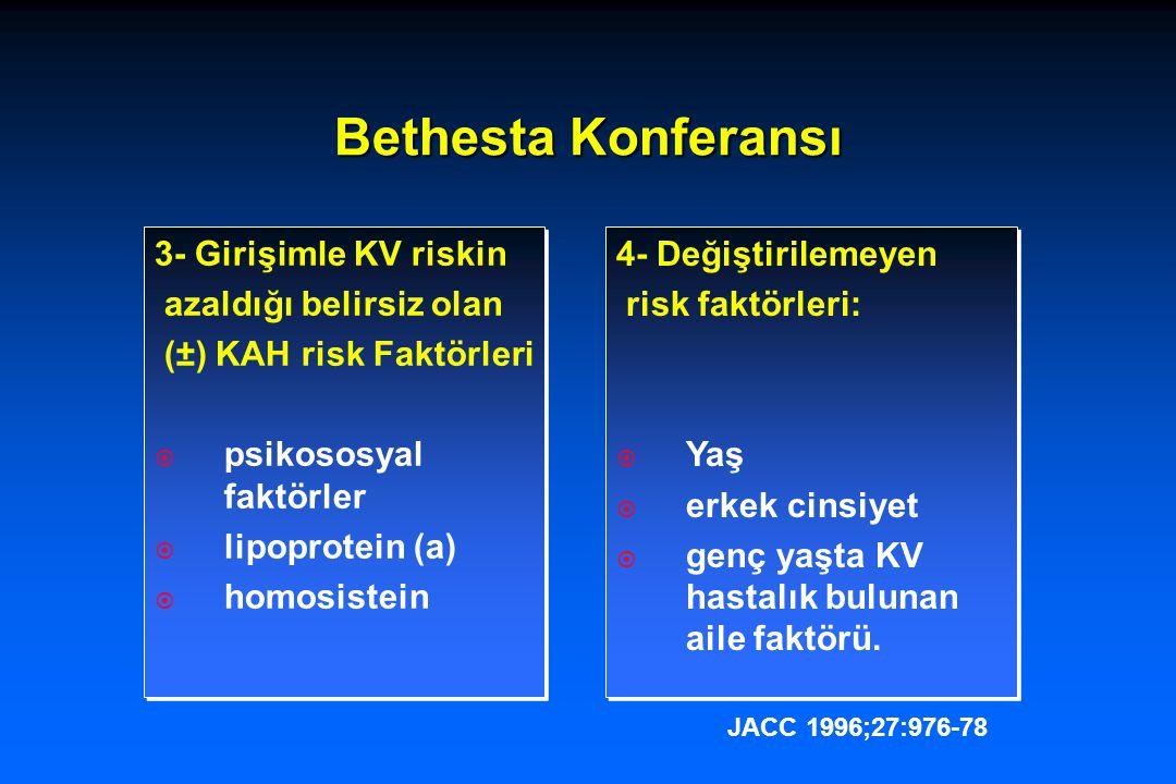 Bethesta Konferansı 3- Girişimle KV riskin azaldığı belirsiz olan
