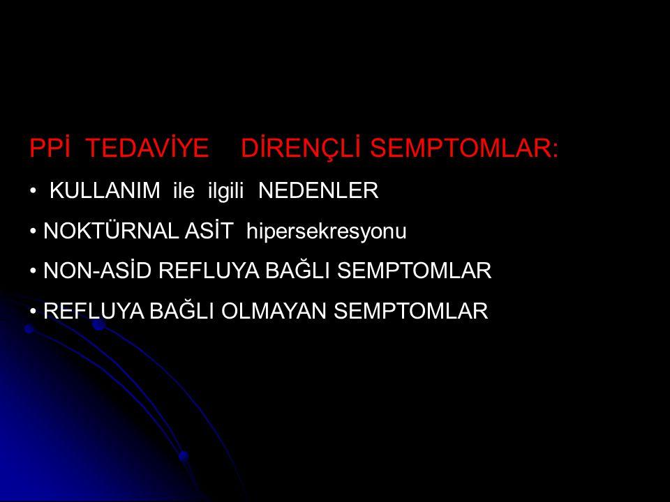PPİ TEDAVİYE DİRENÇLİ SEMPTOMLAR:
