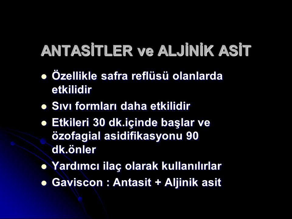 ANTASİTLER ve ALJİNİK ASİT