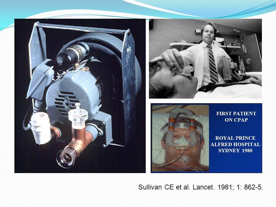 Sullivan CE et al. Lancet. 1981; 1: 862-5.