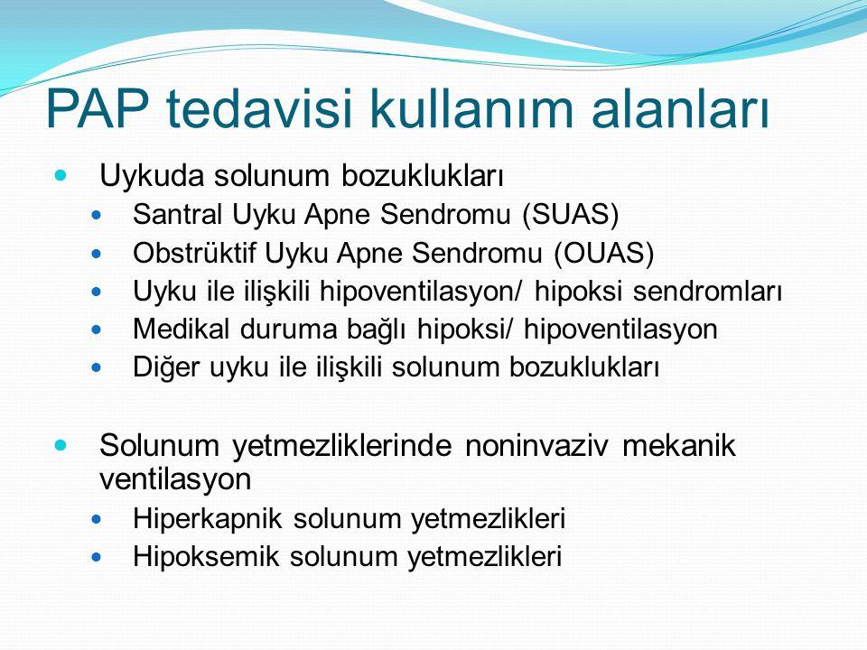 PAP tedavisi kullanım alanları