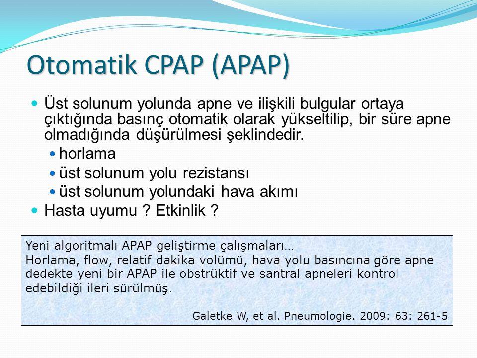 Otomatik CPAP (APAP)