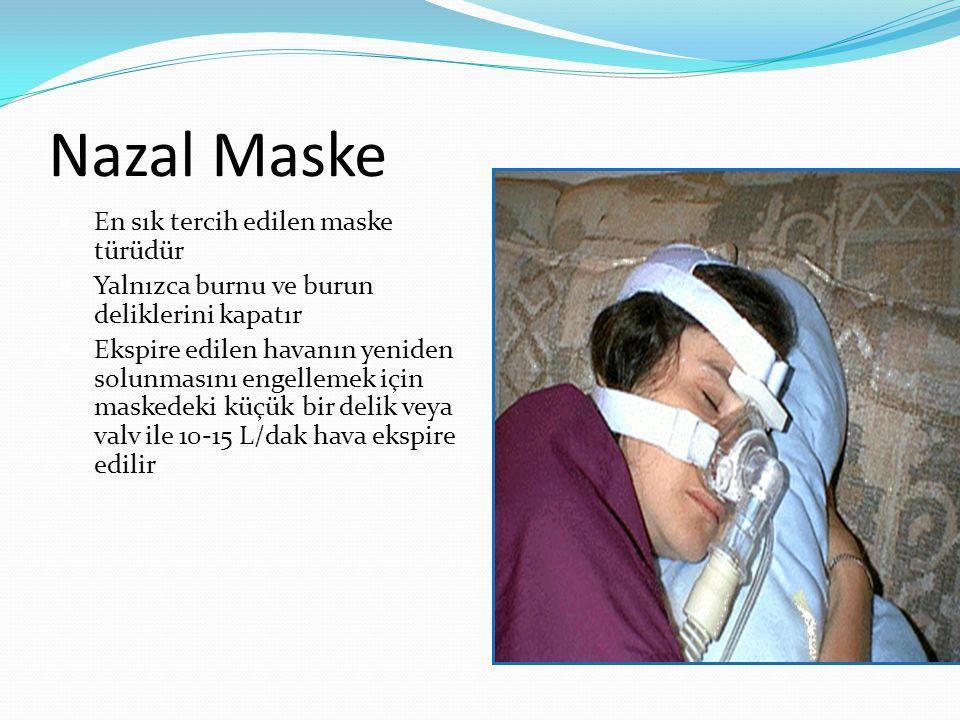 Nazal Maske En sık tercih edilen maske türüdür