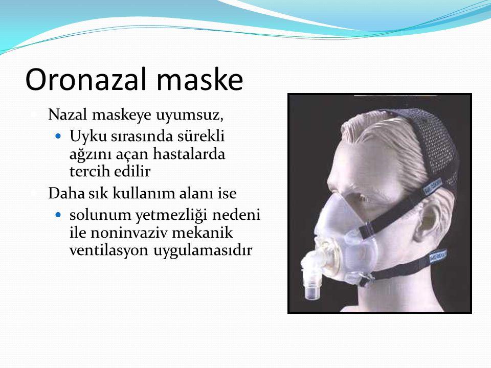Oronazal maske Nazal maskeye uyumsuz,