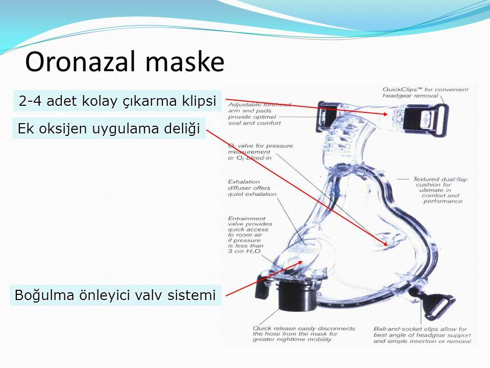 Oronazal maske 2-4 adet kolay çıkarma klipsi