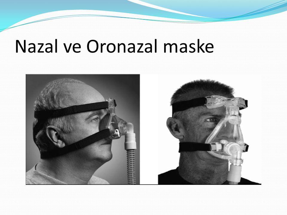 Nazal ve Oronazal maske