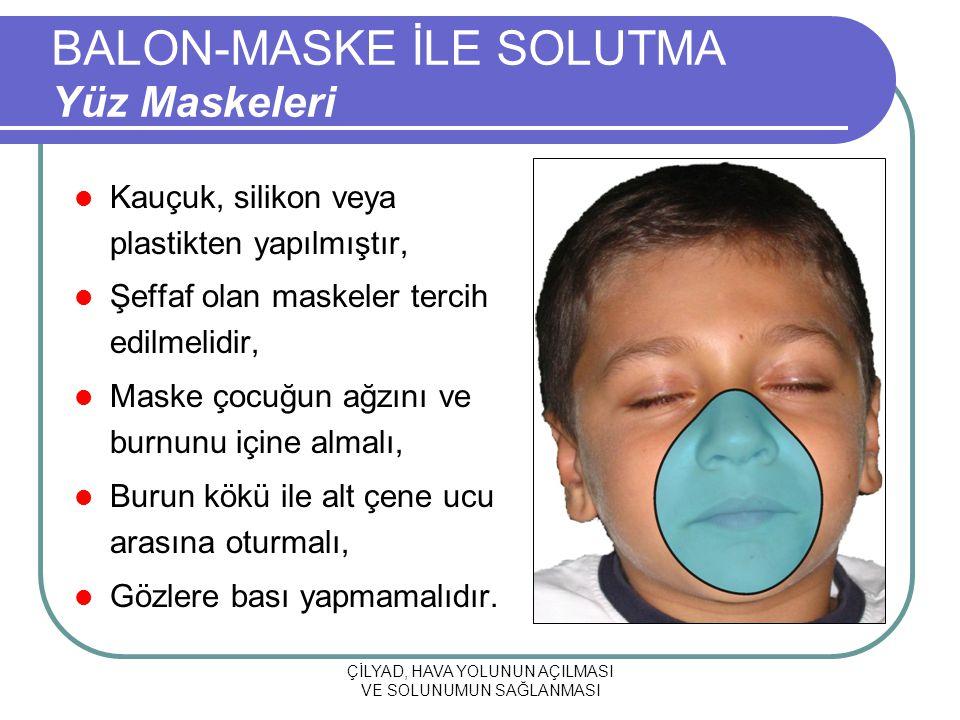 BALON-MASKE İLE SOLUTMA Yüz Maskeleri