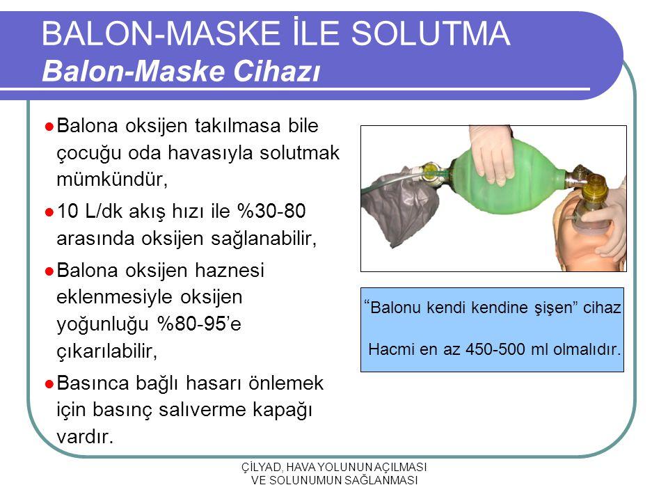 BALON-MASKE İLE SOLUTMA Balon-Maske Cihazı