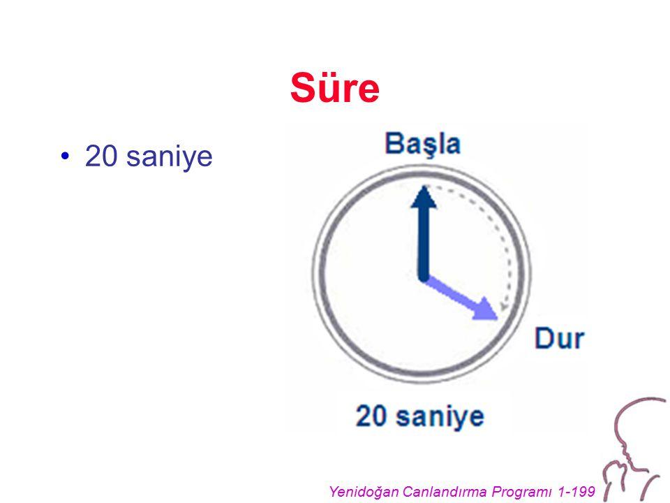 Süre 20 saniye