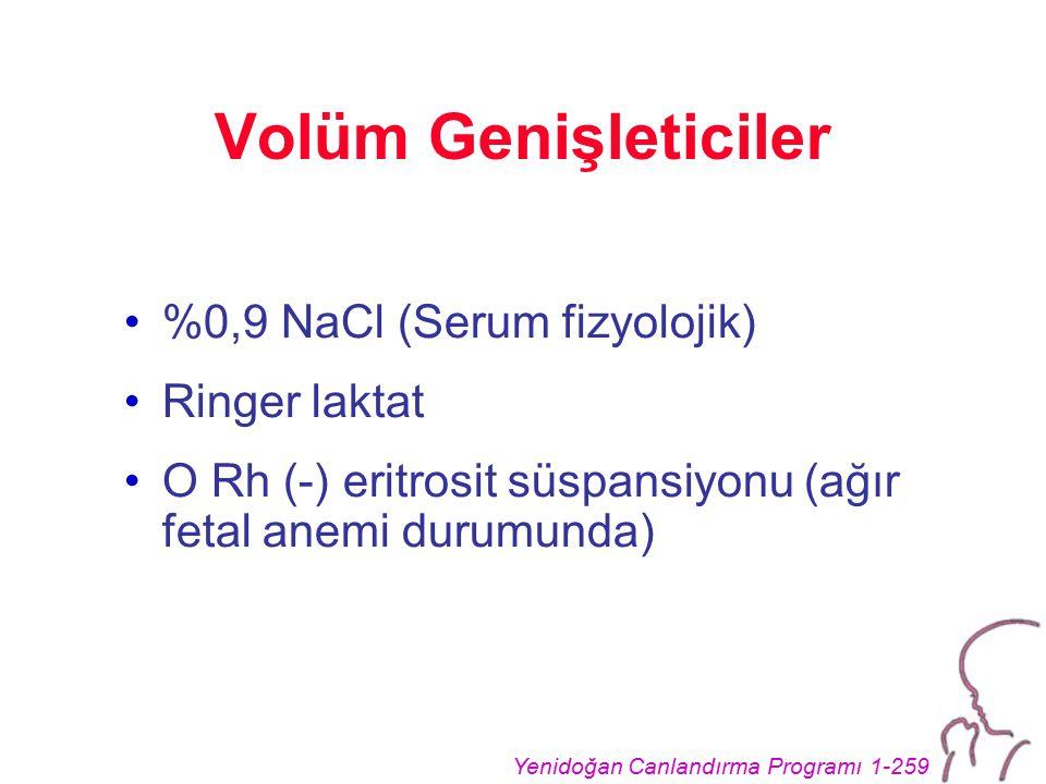 Volüm Genişleticiler %0,9 NaCl (Serum fizyolojik) Ringer laktat