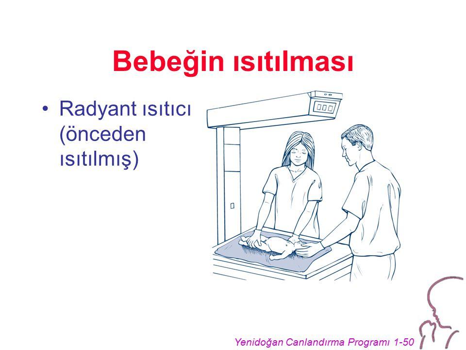 Bebeğin ısıtılması Radyant ısıtıcı (önceden ısıtılmış)