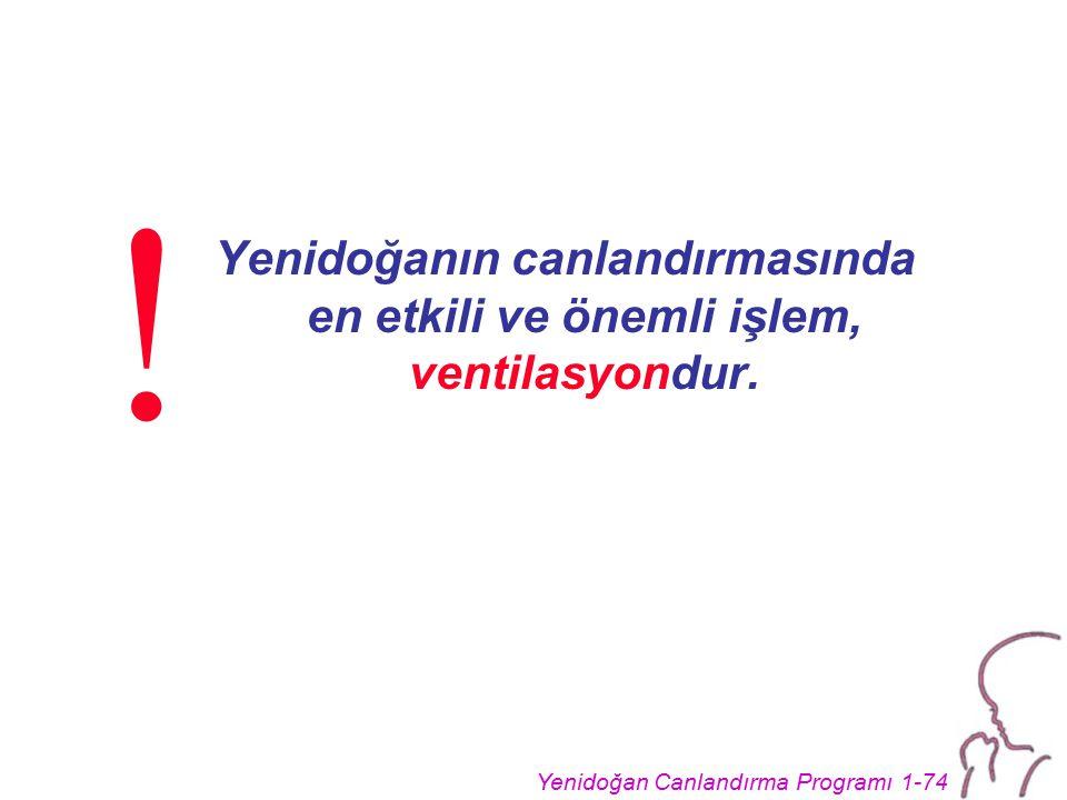 ! Yenidoğanın canlandırmasında en etkili ve önemli işlem, ventilasyondur.