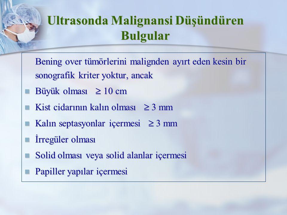 Ultrasonda Malignansi Düşündüren Bulgular