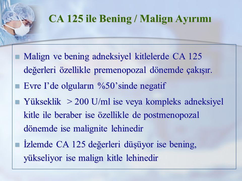 CA 125 ile Bening / Malign Ayırımı