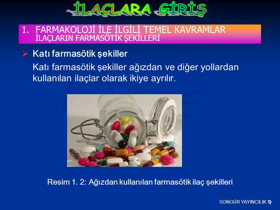 FARMAKOLOJİ İLE İLGİLİ TEMEL KAVRAMLAR İLAÇLARIN FARMASÖTİK ŞEKİLLERİ
