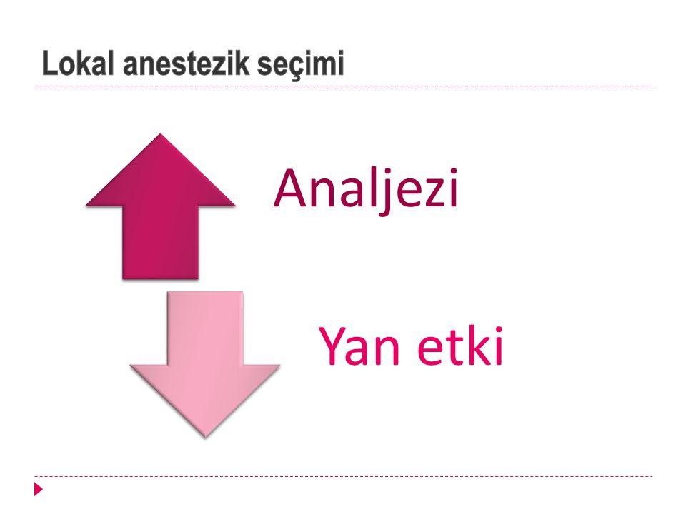 Lokal anestezik seçimi