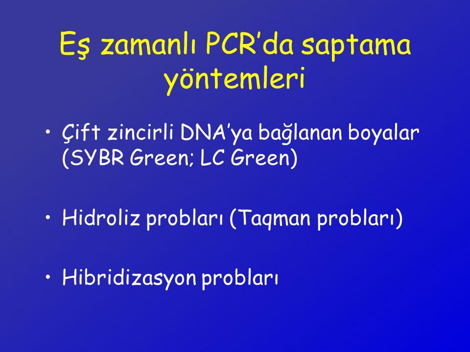 Eş zamanlı PCR'da saptama yöntemleri
