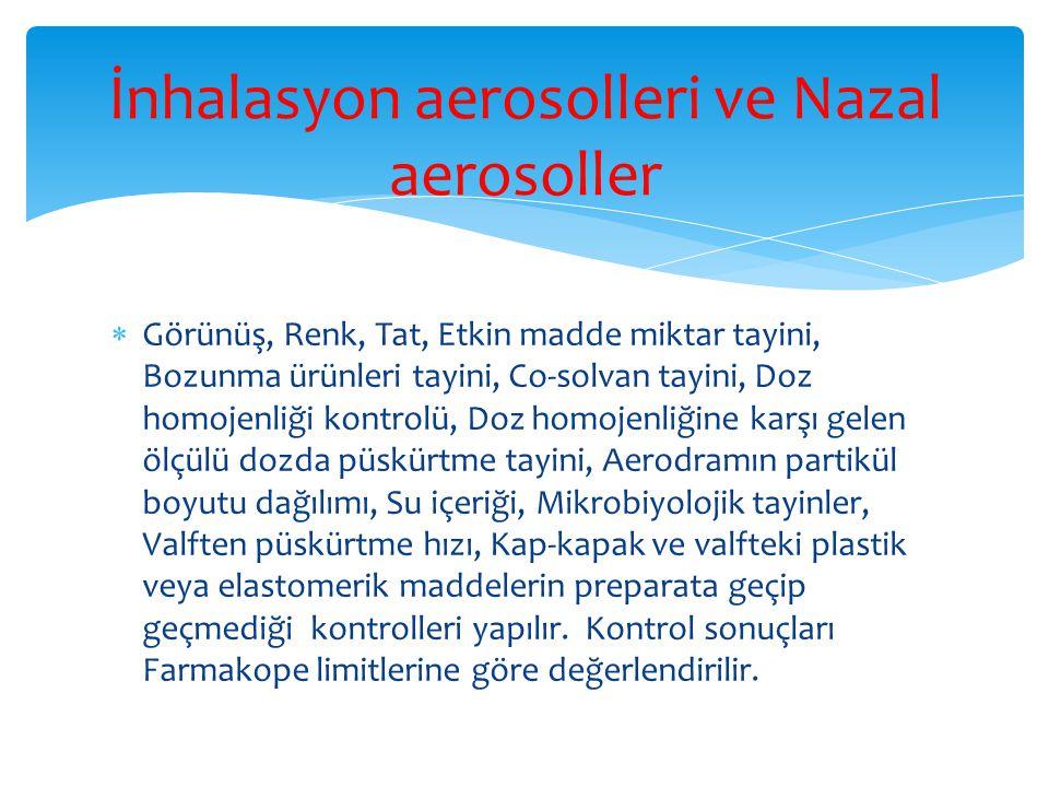 İnhalasyon aerosolleri ve Nazal aerosoller