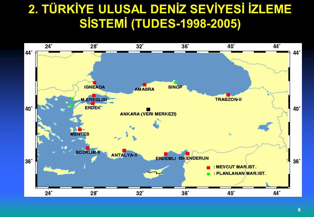 2. TÜRKİYE ULUSAL DENİZ SEVİYESİ İZLEME SİSTEMİ (TUDES-1998-2005)