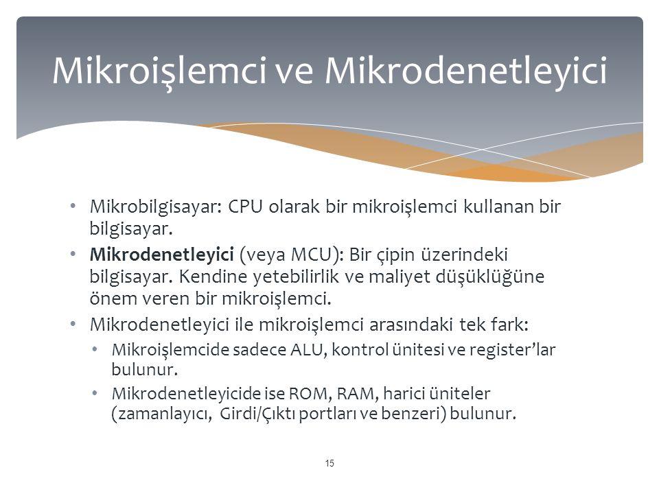 Mikroişlemci ve Mikrodenetleyici