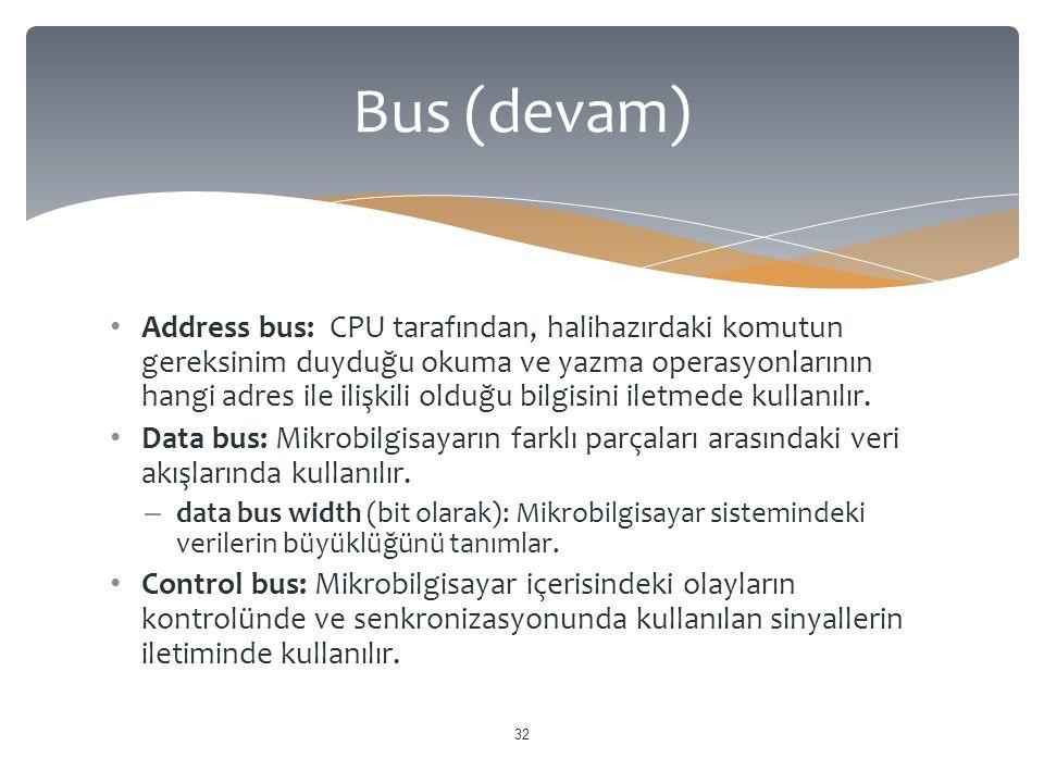 Bus (devam)