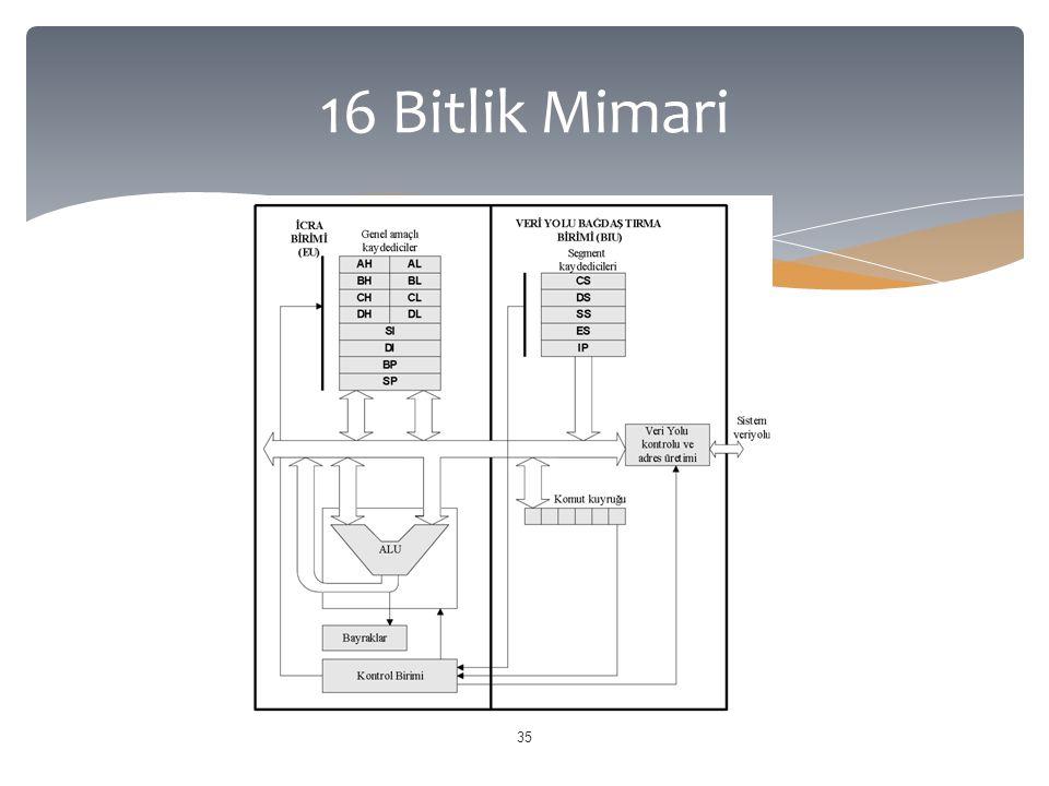 16 Bitlik Mimari