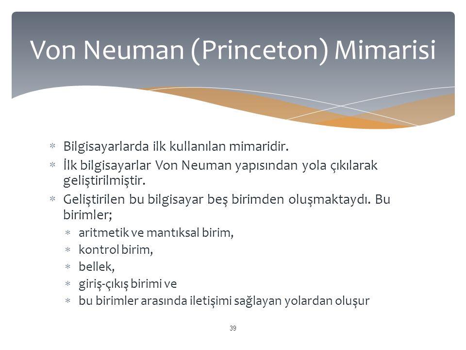 Von Neuman (Princeton) Mimarisi