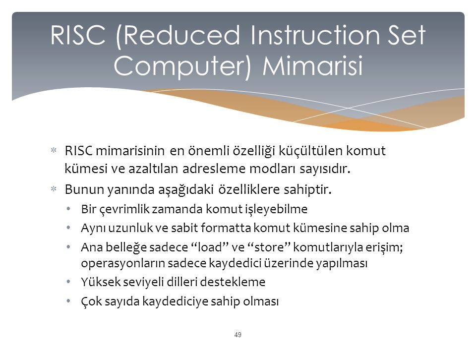 RISC (Reduced Instruction Set Computer) Mimarisi