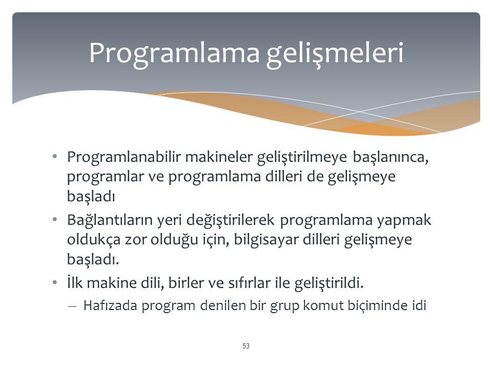 Programlama gelişmeleri